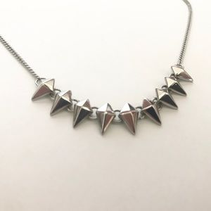 Forever 21 Silver Spike Necklace